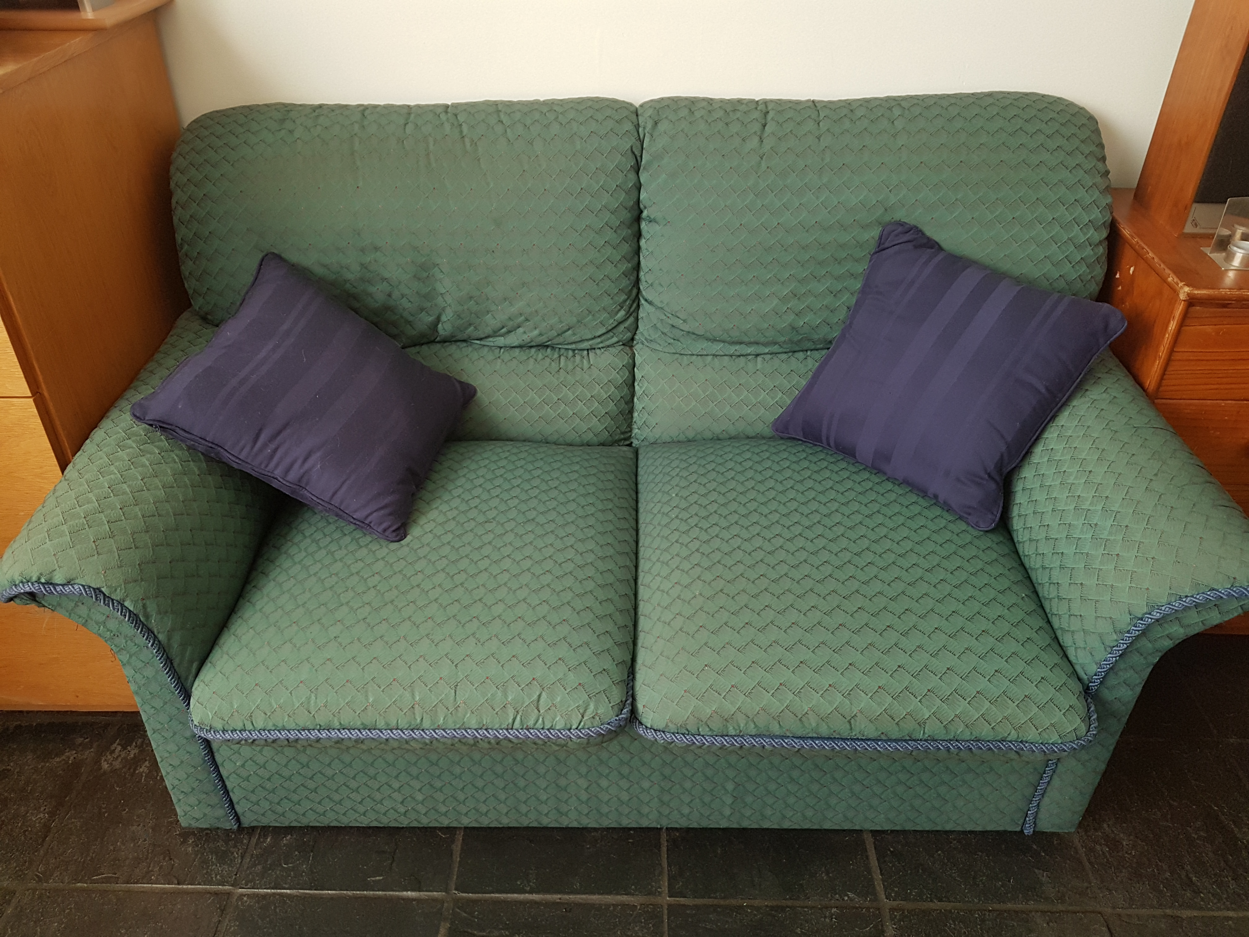 Emerald green couches