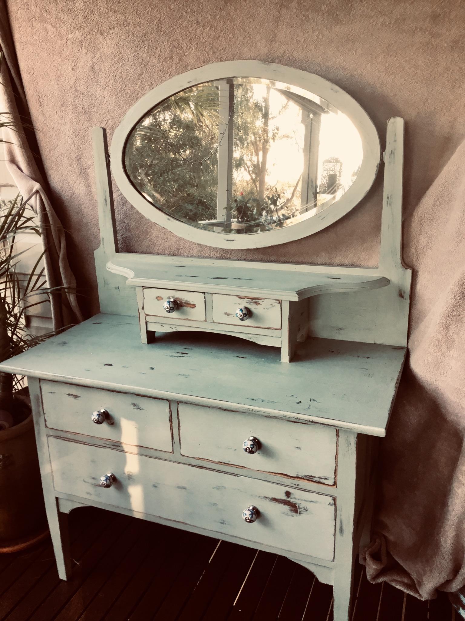 Beautifully restored antique style dresser.