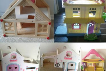 Dollhouses 2 Floor Dollhouse – Fisher Price My First Dollhouse – Rosebud Farm Cottage – Furniture