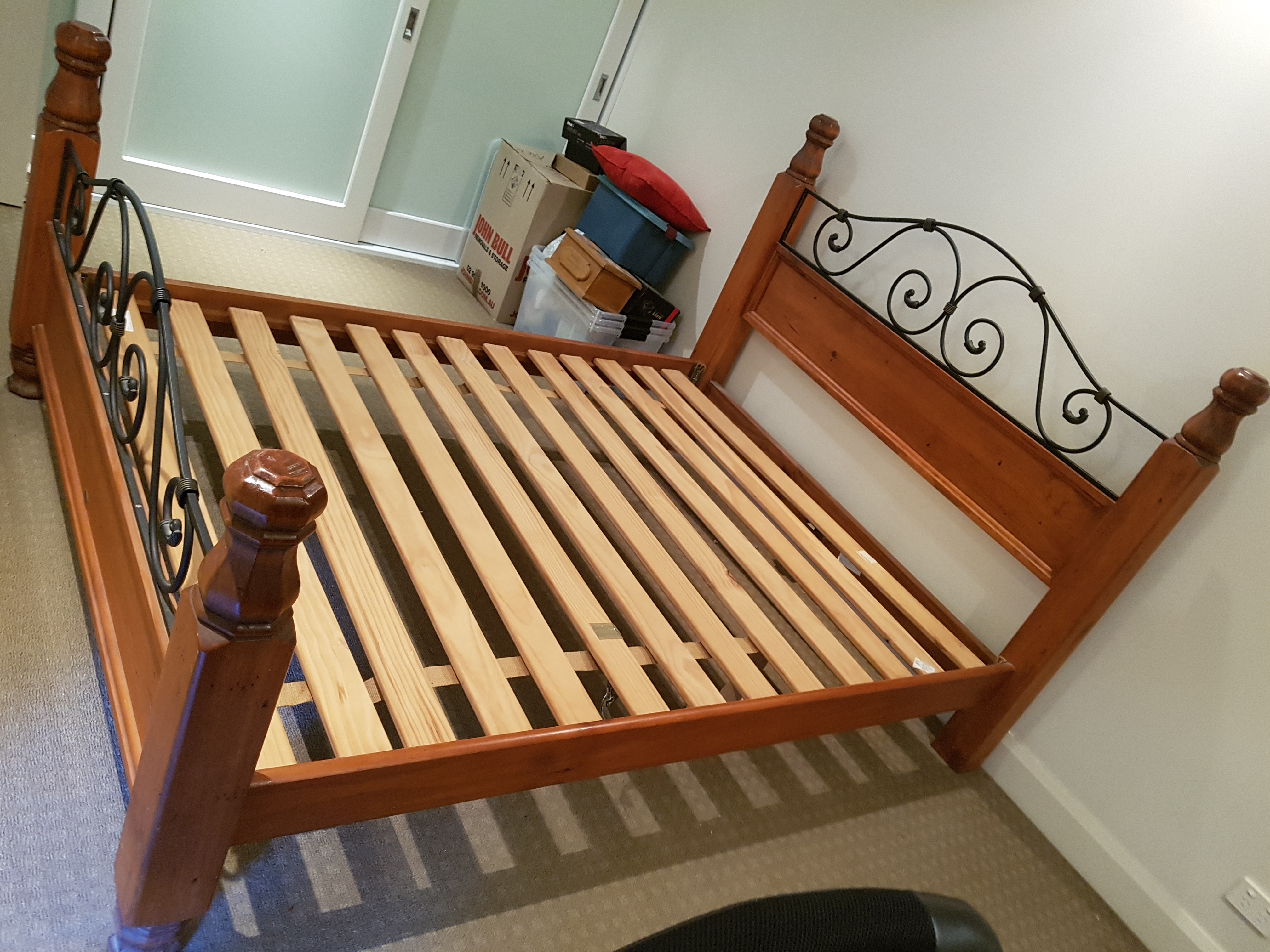 Country Style Queen sized Timber Bed