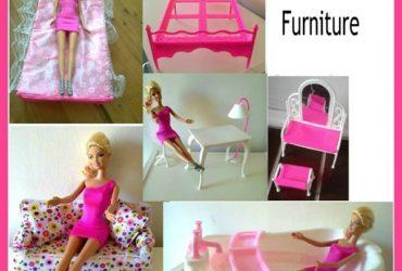NEW Barbie Dollhouse Furniture & Preloved