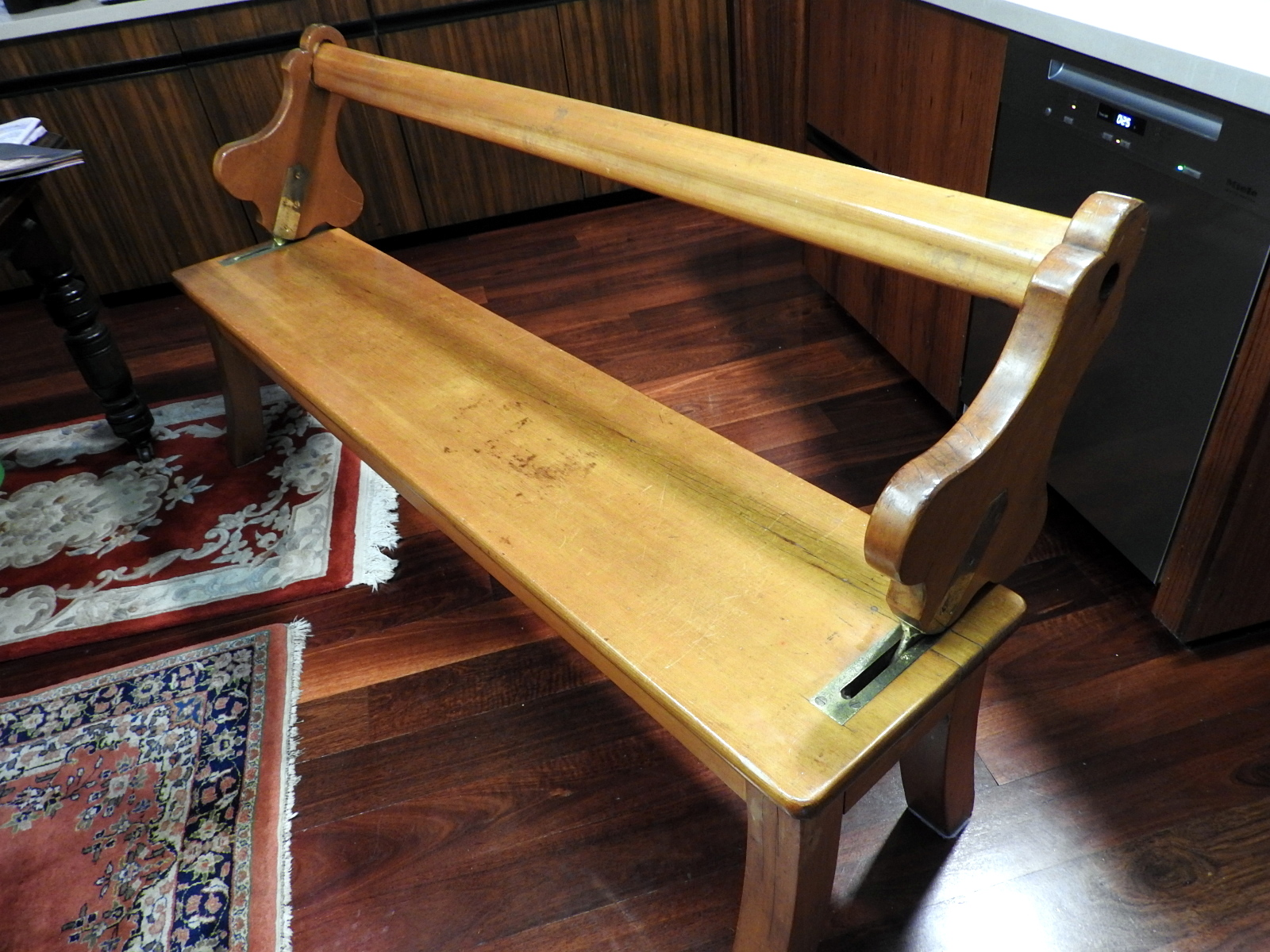 Old Railway/Ferry benches, reversible, made in Parramatta 1899