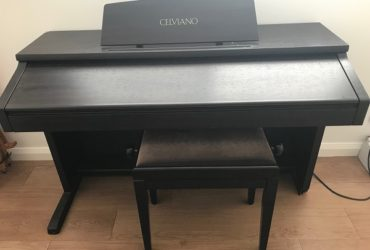 CASIO CELVIANO AP-60R Digital Piano with Stool & User Guide.  Second hand.