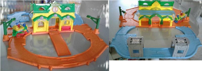 Kids Plastic Pit Balls & Toy Storage Container – Train Set