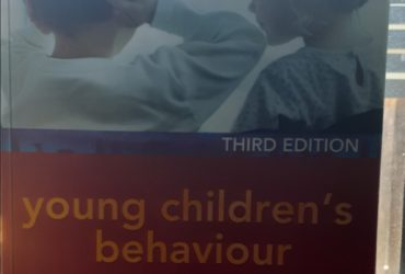 Young children's behavior book