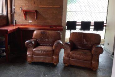 Moran Leather  armchairs