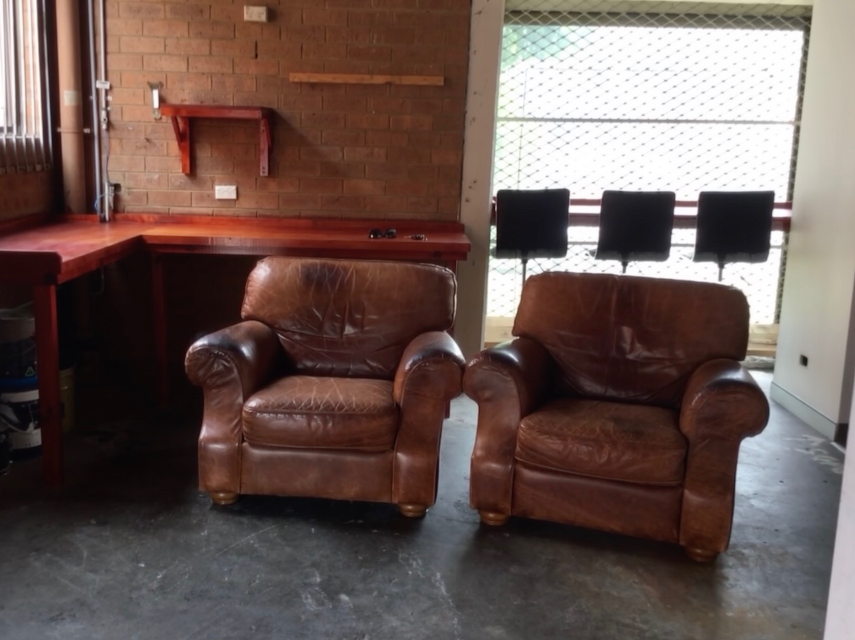 Moran Leather  armchairs