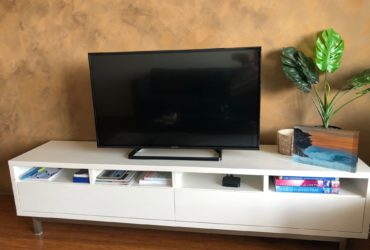 Large white TV entertainment unit