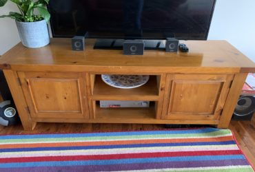 Tv unit height 26cm, depth 22cm, length 71cm