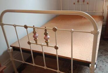 Original wrought iron king single bed
