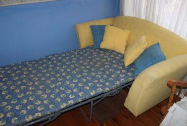 Lemon/Yellow 2 Seater Sofa bed