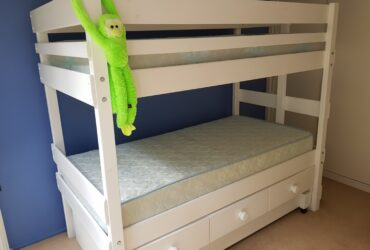 BunkBed, Bunkers brand, 3 large draws, trundle, mattresses, Excellent Condition. $500