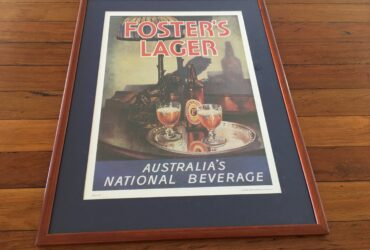 FOSTERS LAGER FRAMED PRINT