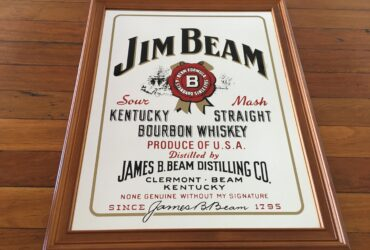 FRAMED JIM BEAM MIRROR