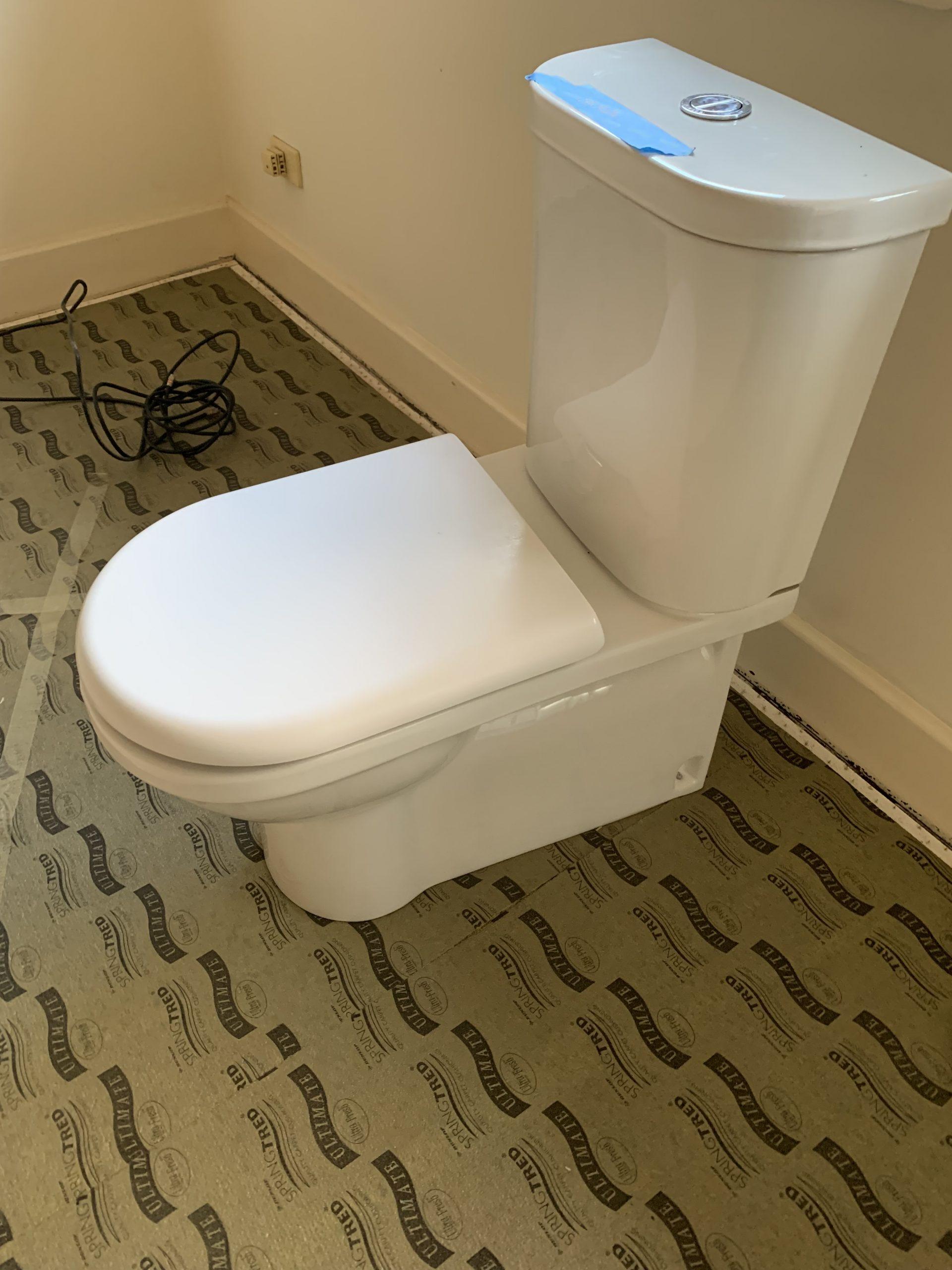 Fowler Dual Flush Newport Toilets x 2